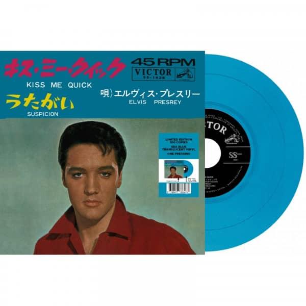 Kiss Me Quick - Suspicion (7inch, 45rpm, Blue Vinyl, Ltd.)