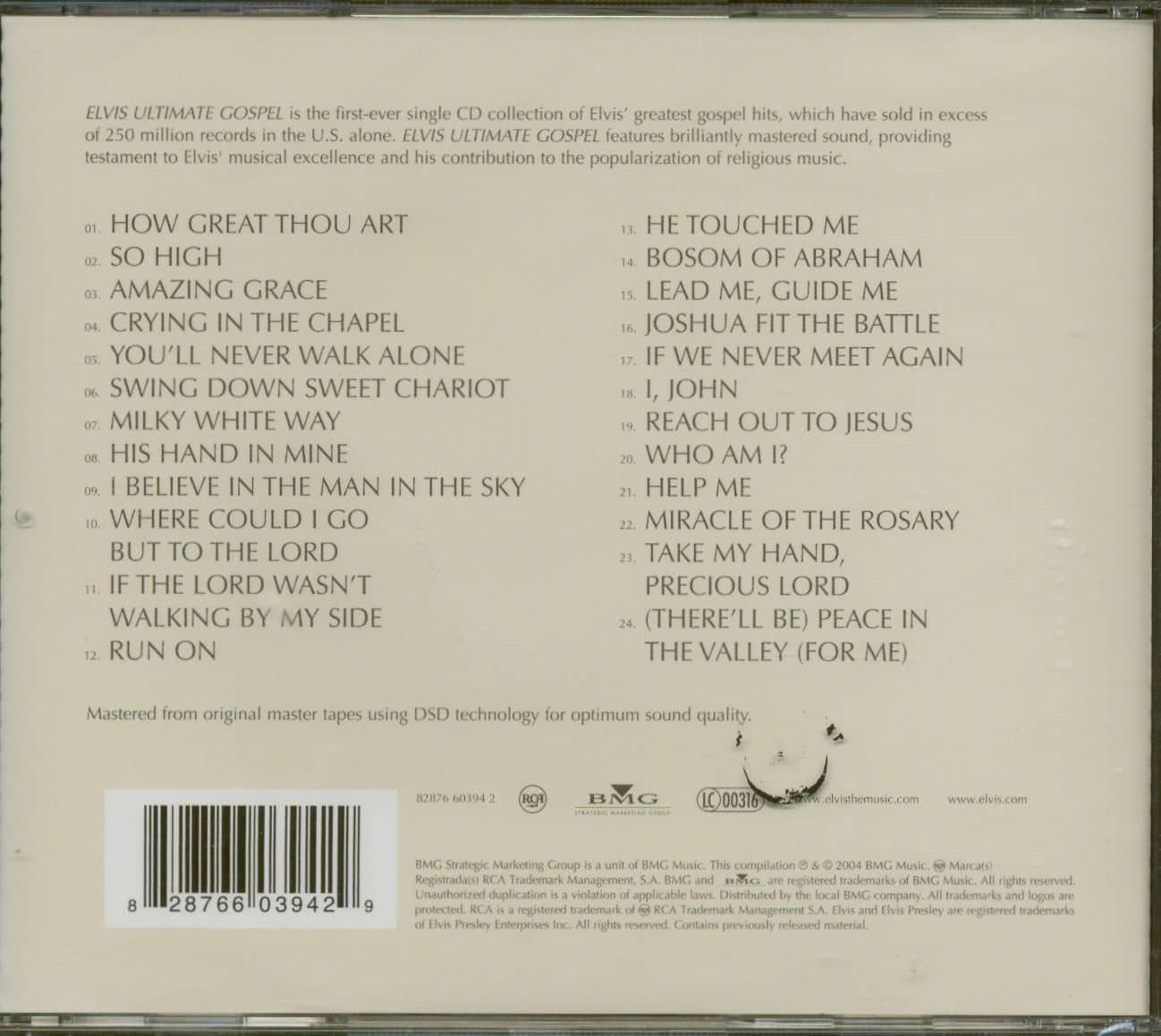 Amazing Grace, BMG Cassette One, AUDIO CASSETTE