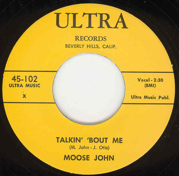 Talkin' Bout Me b-w Wrong Doin' Woman (Ultra) 7inch, 45rpm