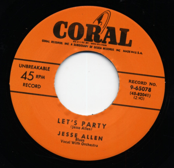 Let's Have A Party - I'm Your Boogie Man (7inch, 45rpm)