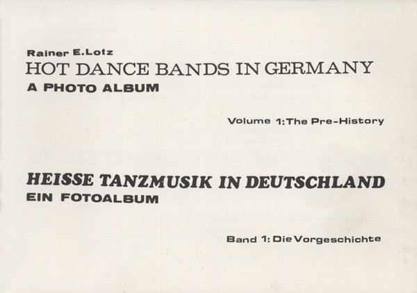 Hot Dance Bands In Germany - Hot Dance Bands In Germany Vol.1