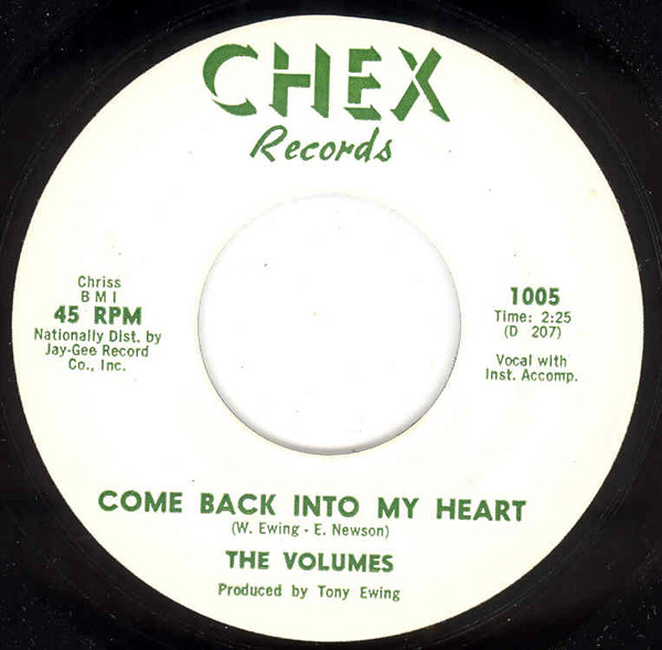 Come Back Into My Heart - The Bell 7inch, 45rpm