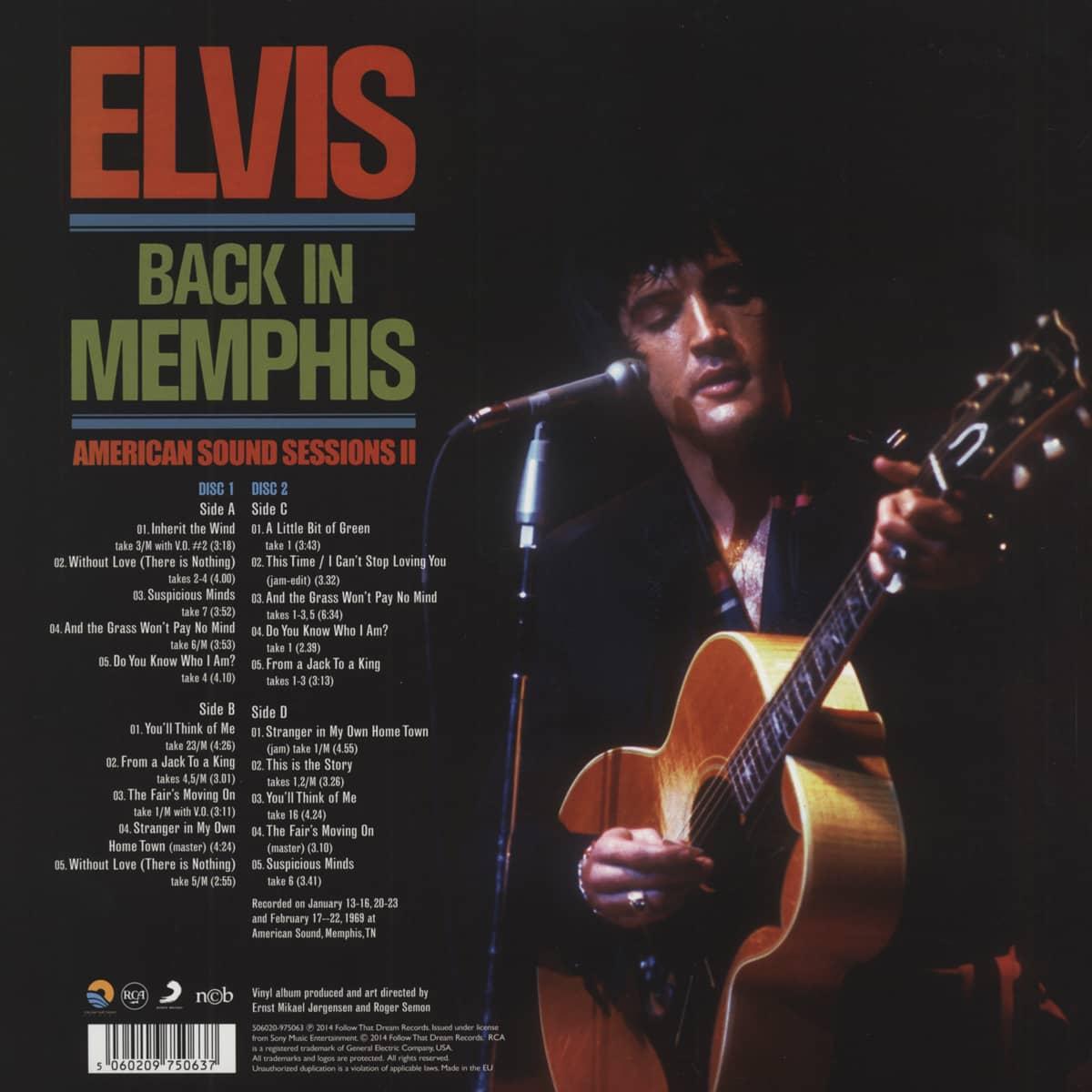 Elvis Presley Back In Memphis - American Sound Sessions II (2x180g Vinyl)