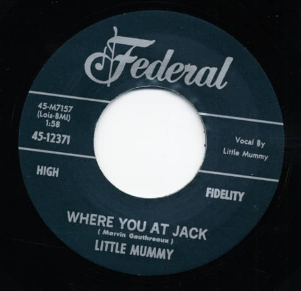 Where You At Jack b-w Oh Baby Please 7inch, 45rpm