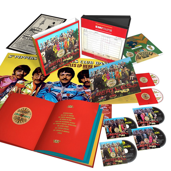 Sgt. Pepper's Lonely Hearts Club Band (50th-Anniversary-Edition) (4-CD,1-Blu-ray, 1-DVD)