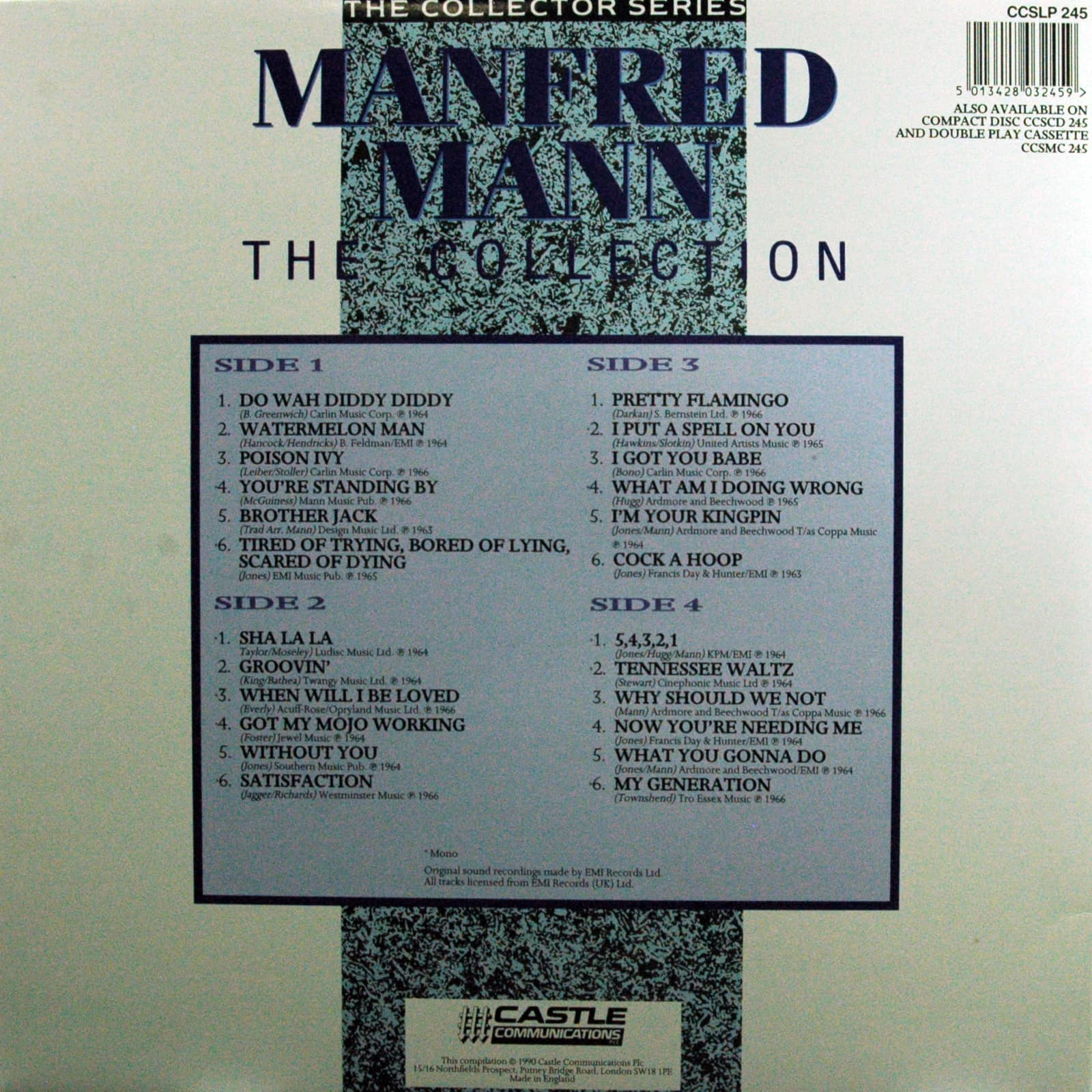 Manfred Mann The Collection - The Collector Series (2-LP)